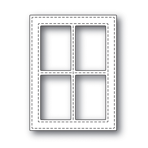 Simon Says Stamp Stitched Window Frame
