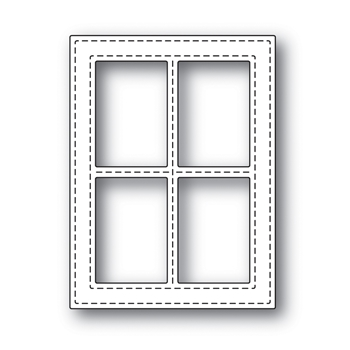 Simon Says Stamp STITCHED WINDOW FRAME Wafer Dies s499 Diecember