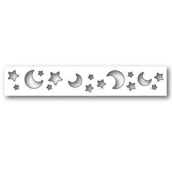 Simon Says Stamp MOON AND STAR BORDER Wafer Dies s506 Diecember