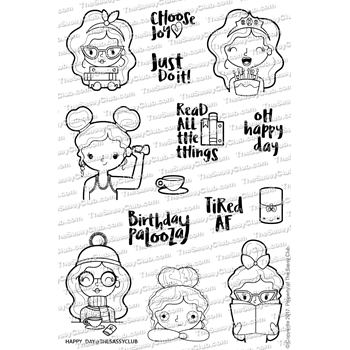 The Sassy Club HAPPY DAY Clear Stamps tscl105