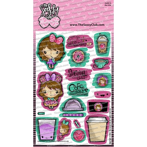 The Sassy Club SASSY BUCKS COFFEE Clear Stamps tscl110 Preview Image