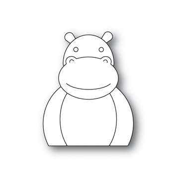 Simon Says Stamp PICTURE BOOK HIPPO Wafer Dies s518 Diecember