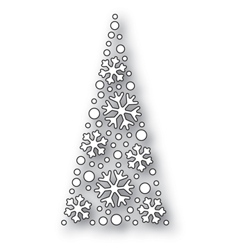 Simon Says Stamp SNOWFLAKE TREE Wafer Dies s529 Diecember