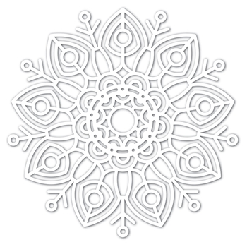 Simon Says Stamp Big Huge FELICITY SNOWFLAKE Wafer Dies sssd111746 Diecember