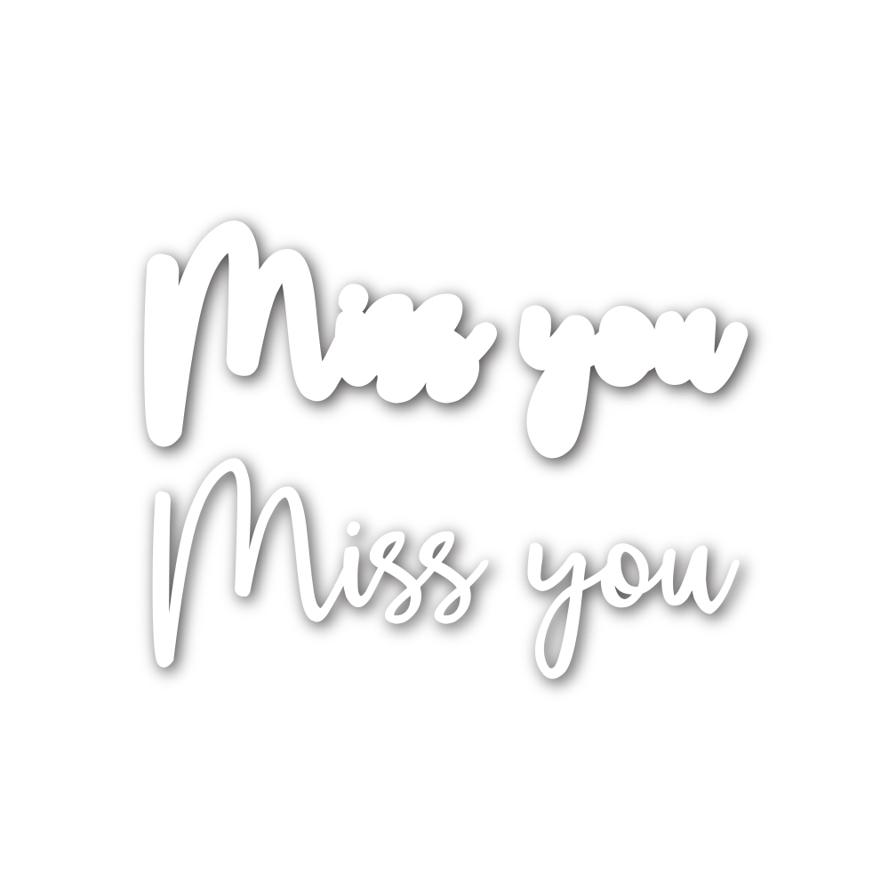 Simon Says Stamp SCRIPT MISS YOU Wafer Dies sssd111751 Diecember zoom image