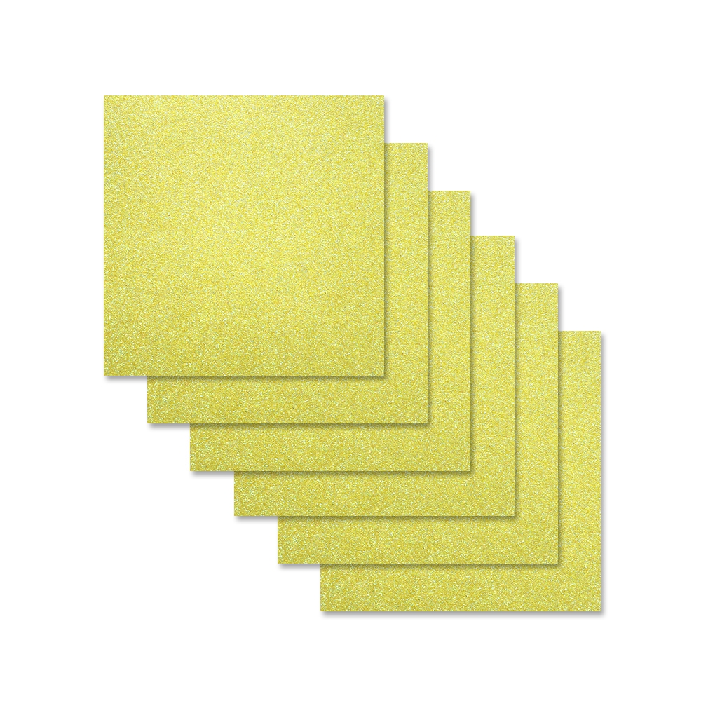 Simon Says Stamp Cardstock CITRON GLITTER 6x6 sss305 zoom image