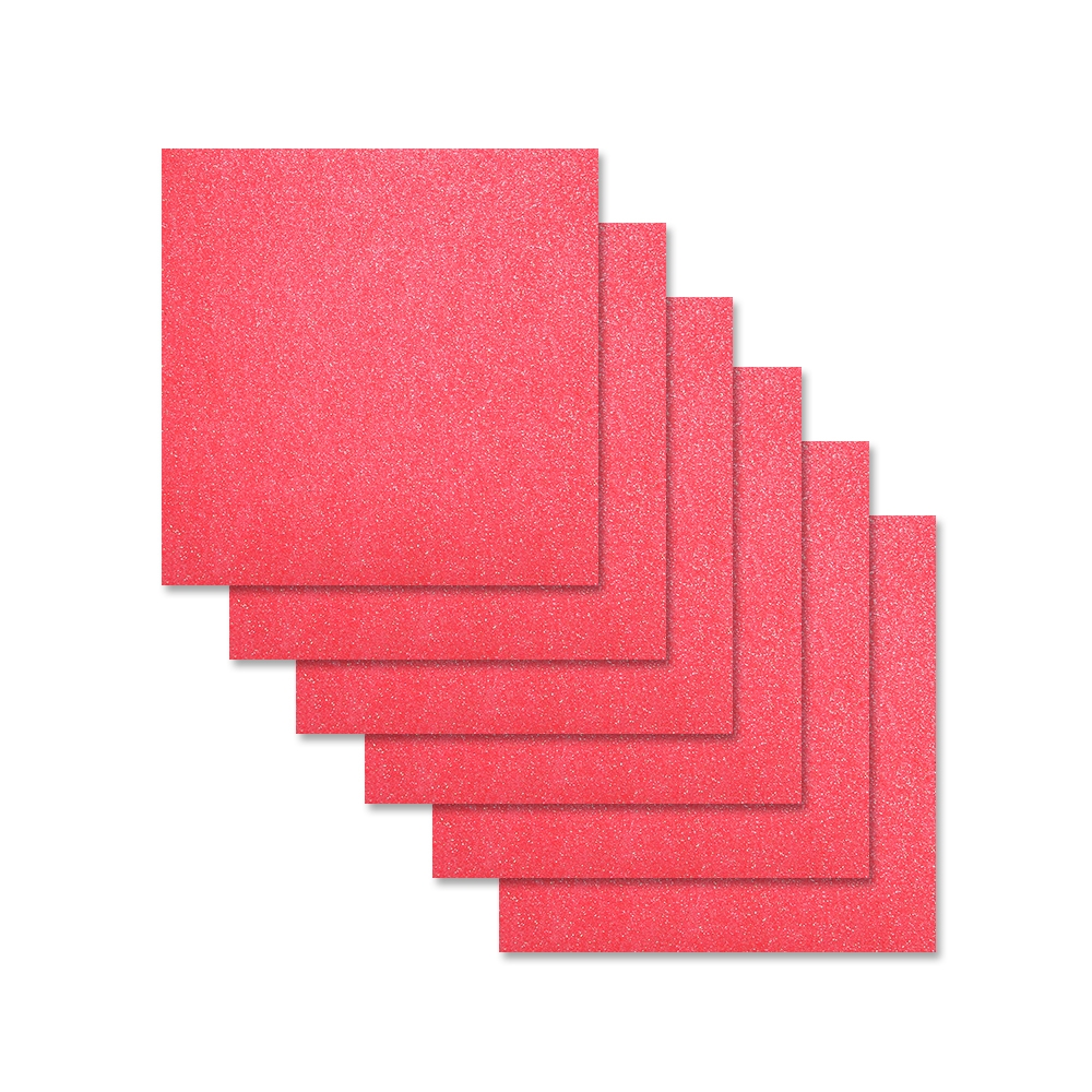 Simon Says Stamp Cardstock HOT PINK GLITTER 6x6 sss311 zoom image