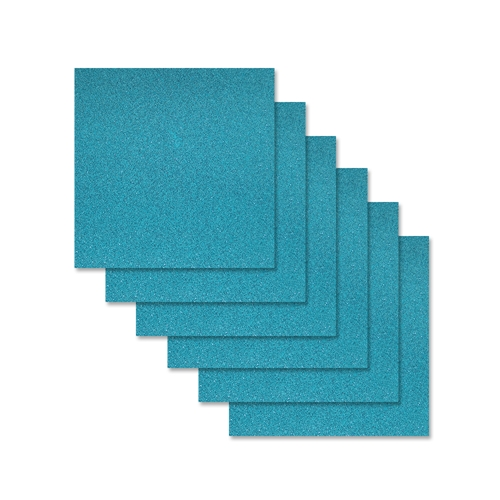 Simon Says Stamp Cardstock TEAL GLITTER 6x6 sss312 Preview Image