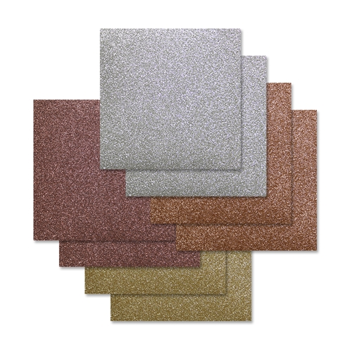 Simon Says Stamp Cardstock METALLICS GLITTER 6x6 Pack sssmet8 Preview Image