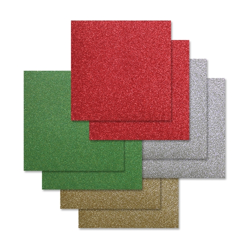 Simon Says Stamp Cardstock CHEERFUL HOLIDAY GLITTER 6x6 Pack ssschh8 Diecember Preview Image
