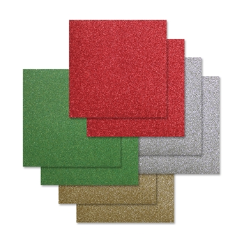 Simon Says Stamp Cardstock CHEERFUL HOLIDAY GLITTER 6x6 Pack ssschh8 Diecember