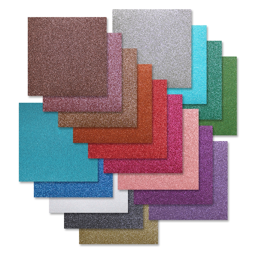 Simon Says Stamp Cardstock ASSORTMENT GLITTER 6x6 Pack sssast2