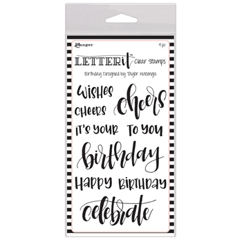 Ranger BIRTHDAY Letter It Stamp Set lec59295
