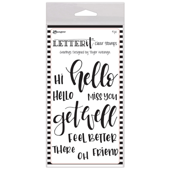 Ranger GREETINGS Letter It Stamp Set lec59318