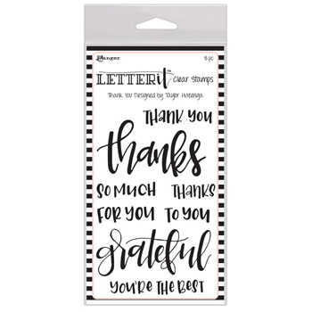 Ranger THANK YOU Letter It Stamp Set lec59325