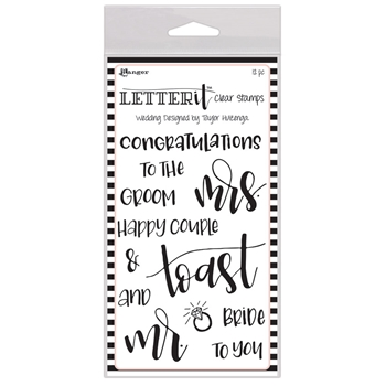 Ranger WEDDING Letter It Stamp Set lec59332
