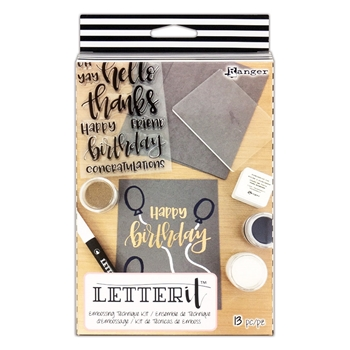 Ranger EMBOSSING TECHNIQUE KIT Letter It lek59387