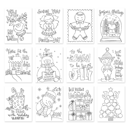 Simon Says Stamp Suzy's TIS THE SEASON Watercolor Prints szwts17 Diecember Preview Image