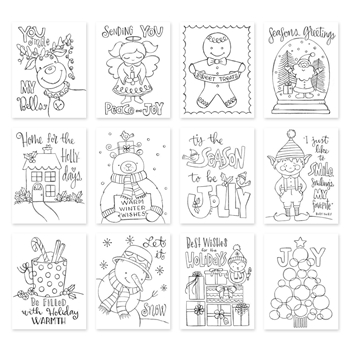 Simon Says Stamp Suzy's TIS THE SEASON Watercolor Prints szwts17 Diecember