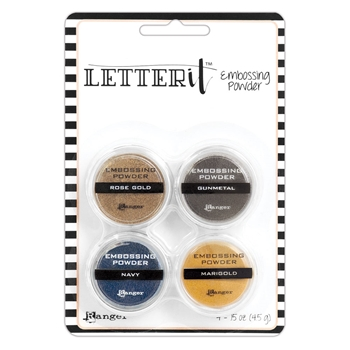Ranger METALLICS EMBOSSING POWDER SET Letter It lep58816