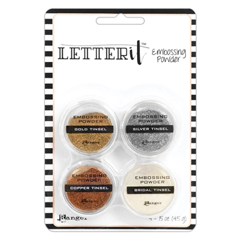 Ranger TINSELS EMBOSSING POWDER SET Letter It lep59578