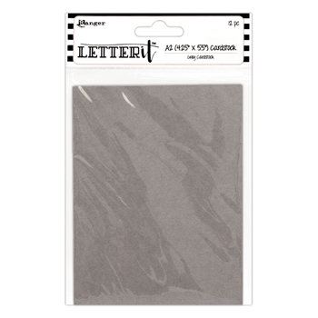 Ranger 4.25 x 5.5 GREY CARDSTOCK Letter It les59363