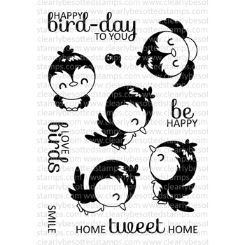 Clearly Besotted YOU'RE SO TWEET TOO Clear Stamp Set