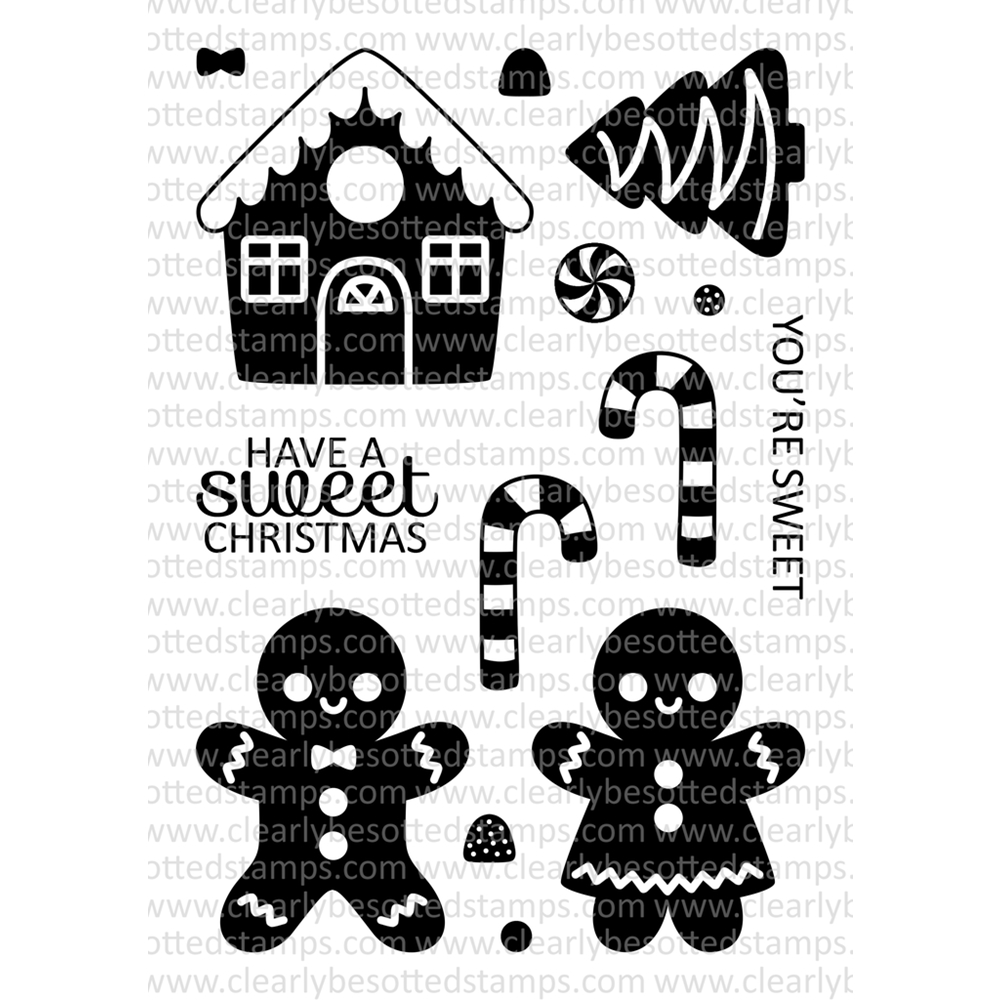 Clearly Besotted SWEET CHRISTMAS Clear Stamp Set zoom image