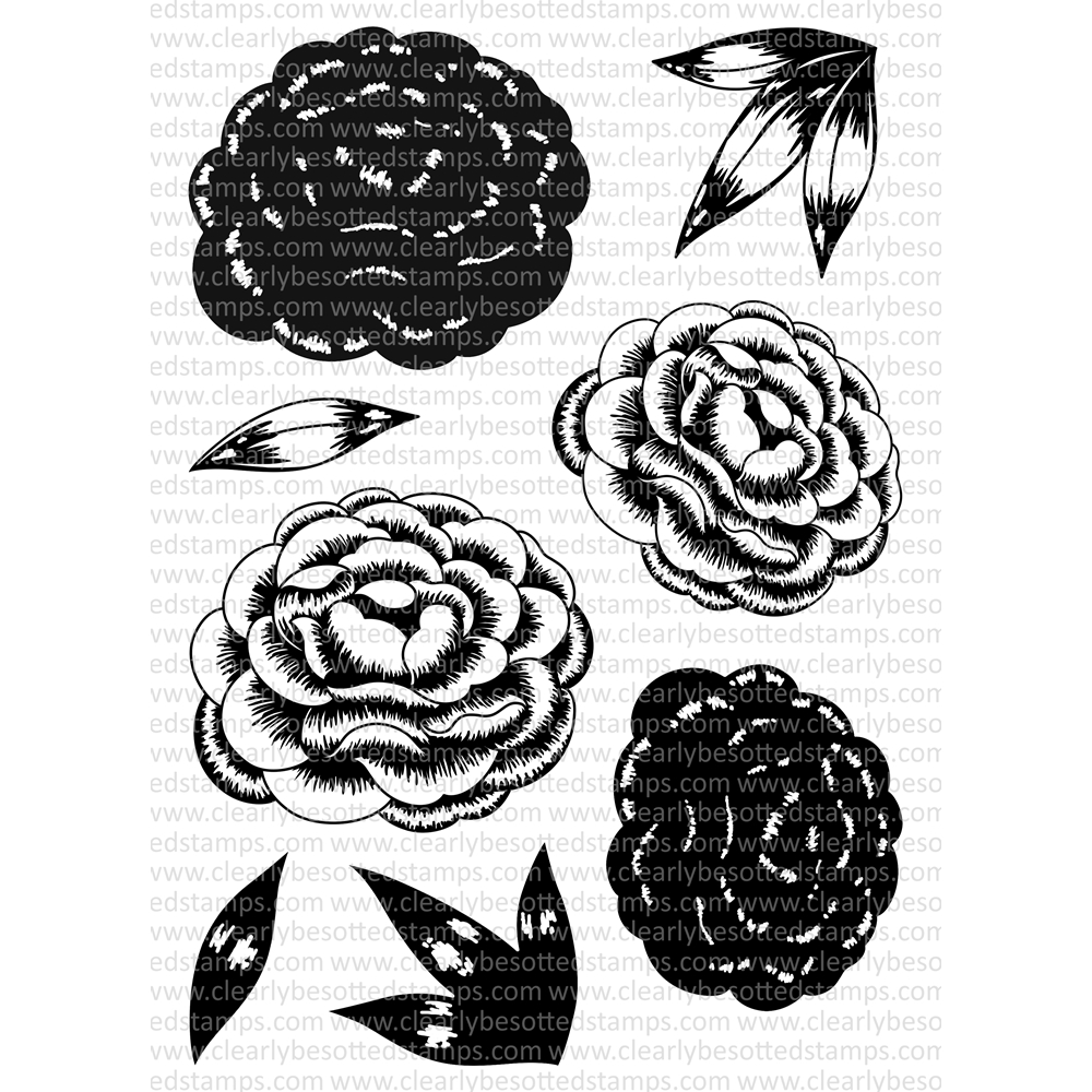 Clearly Besotted BLOOMING MARVELOUS Clear Stamp Set zoom image