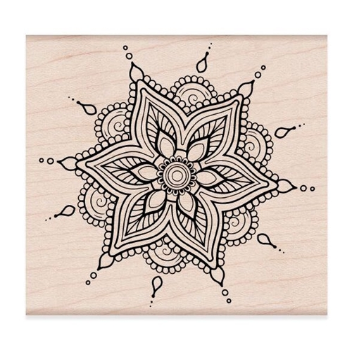 Hero Arts Rubber Stamps Henna Flower Pattern K6268 At Simon Says Stamp