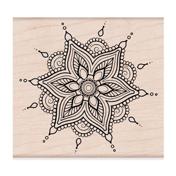 Hero Arts Rubber Stamps HENNA FLOWER PATTERN K6268