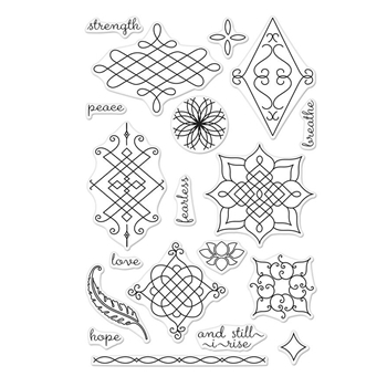 Hero Arts Clear Stamp ORNATE HENNA PATTERNS CM221