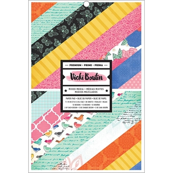 American Crafts Vicki Boutin 7x10 Inch Single Sided ALL THE GOOD THINGS Paper Pad 343887