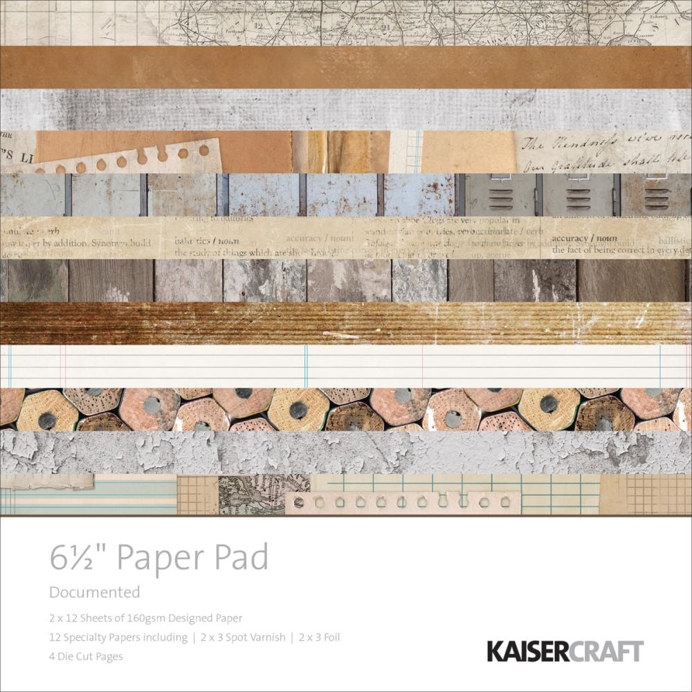 Kaisercraft DOCUMENTED 6.5 x 6.5 Inch Paper Pad PP1036 zoom image