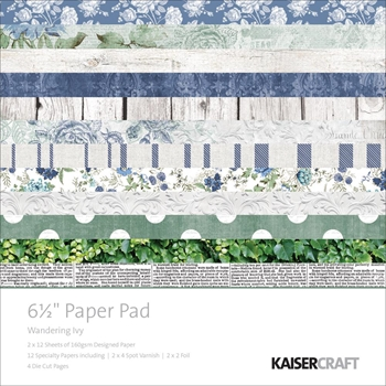 Kaisercraft WANDERING IVY 6.5 x 6.5 Inch Paper Pad PP1033