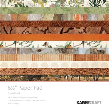 Kaisercraft OPEN ROAD 6.5 x 6.5 Inch Paper Pad PP1034