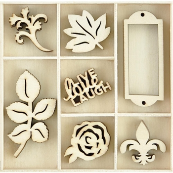 Kaisercraft PROVINCIAL Wooden Shapes Flourish Pack FL614