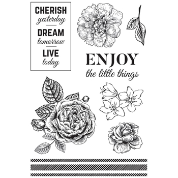 Kaisercraft WANDERING IVY Clear Stamps CS316