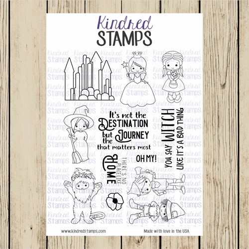 Kindred Stamps OFF TO SEE THE WIZARD Clear Stamp Set ks7795 Preview Image
