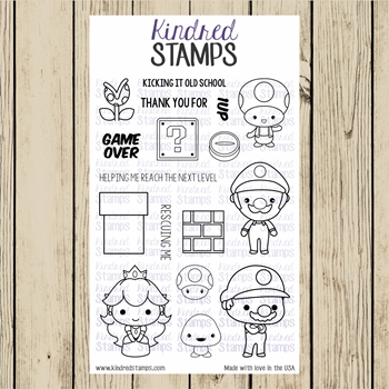 Kindred Stamps VIDEO GAME BROTHERS Clear Stamp Set ks3779