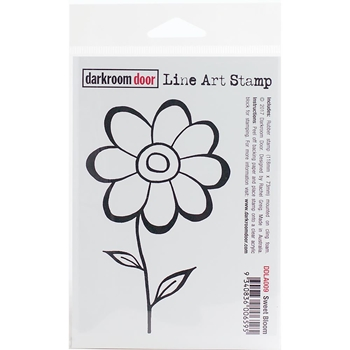 Darkroom Door Cling Stamp SWEET BLOOM Line Art Rubber UM DDLA009