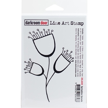 Darkroom Door Cling Stamp SPRINGTIME SPROUTS Line Art Rubber UM DDLA008