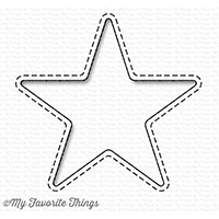 My Favorite Things STITCHED STAR PEEK A BOO WINDOW Die-Namics MFT1226