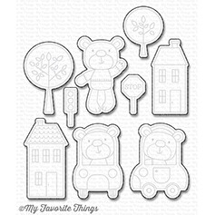 My Favorite Things TOWN BEAR Die-Namics MFT1128