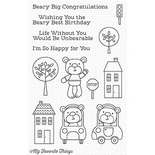 My Favorite Things TOWN BEAR Clear Stamps CS210