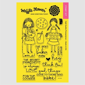 Waffle Flower LITTLE BAKERS Clear Stamp Set 271145
