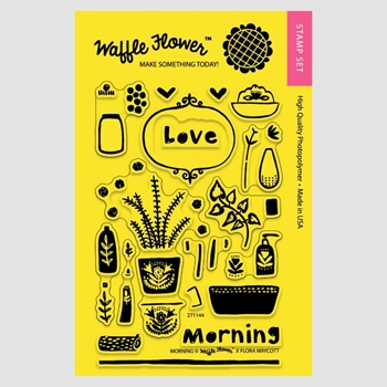Waffle Flower MORNING LOVE Clear Stamp Set 271144