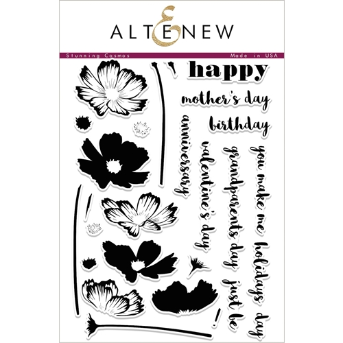 Altenew STUNNING COSMOS Clear Stamp Set ALT2001 Preview Image