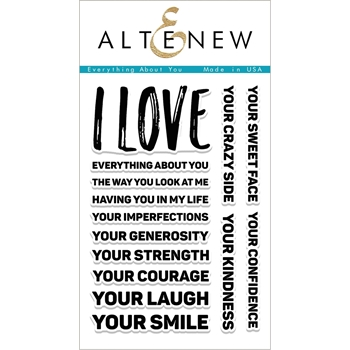 Altenew EVERYTHING ABOUT YOU Clear Stamp Set ALT1988