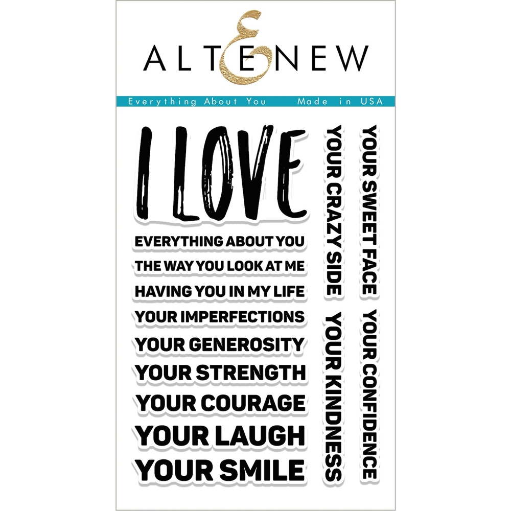 Altenew EVERYTHING ABOUT YOU Clear Stamp Set ALT1988 zoom image